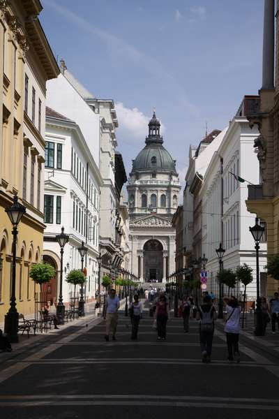One of the nicest streets in Budapest