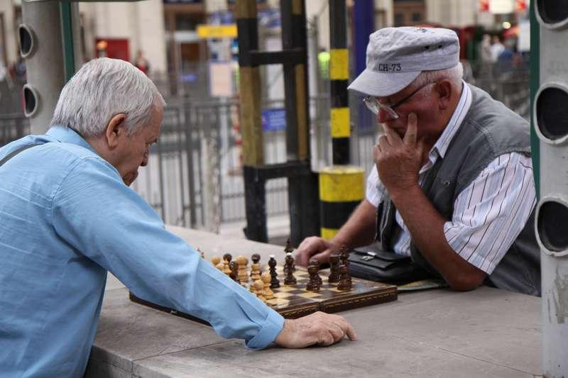 Chess at Keleti Station, Budapest