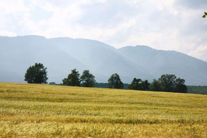 Heading for the mountains near Plovdiv