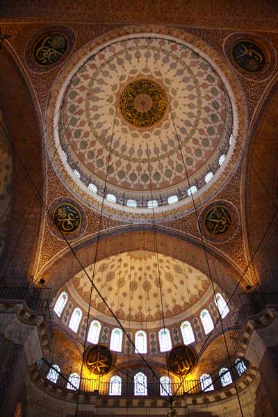 The beautiful domes of a mosque in Sultanahmet.