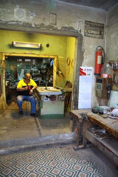 Mid city workshop near Taksim.