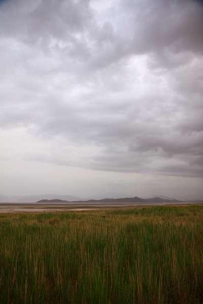 The salt lake near by.