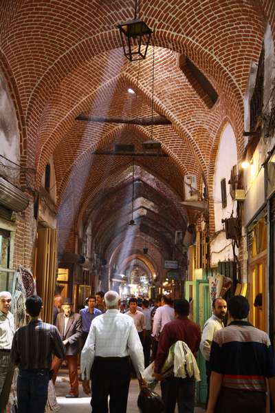 The market halls of Tabriz, largest (so we were told) covered market in the world.