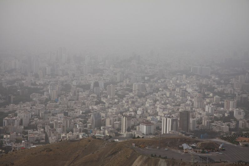 Tehran from the mountains.