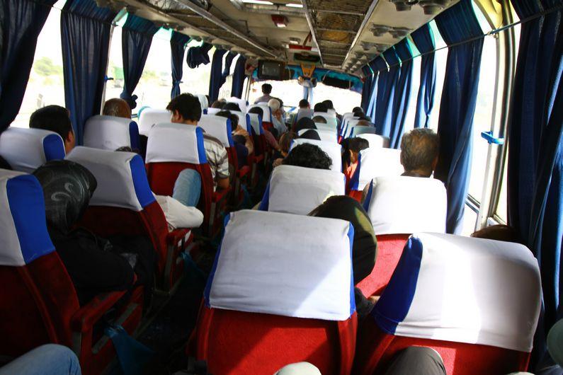 Bus to Tehran.