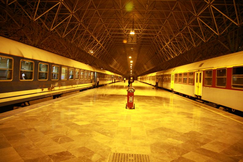 Tehran trainstation.