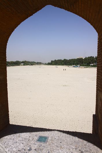 The river in Esfahan is totally dry and has been for 8 months. Very unusual.