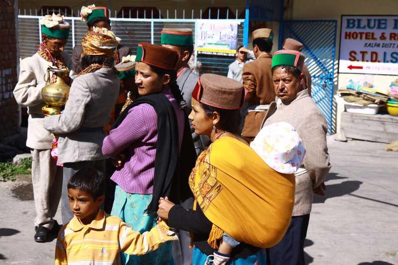 Locals in Kalpa