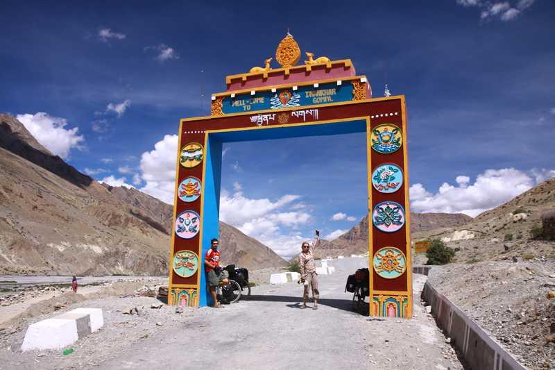 Heading up to Dhankar Monastery