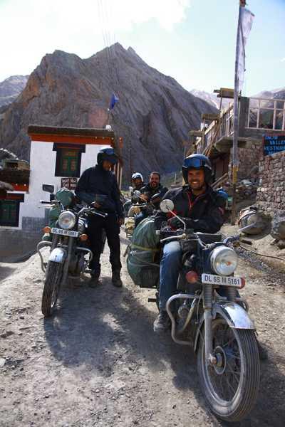 4 Italians on motorbikes.