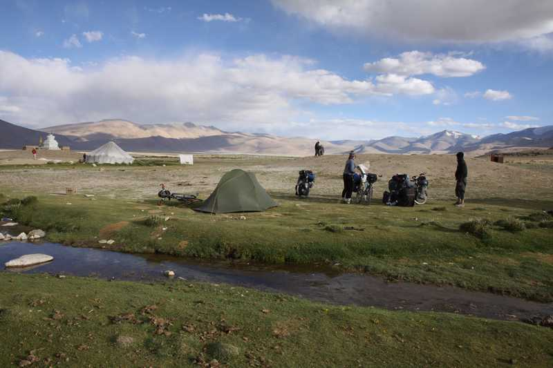 Camping at Tso Kar lake