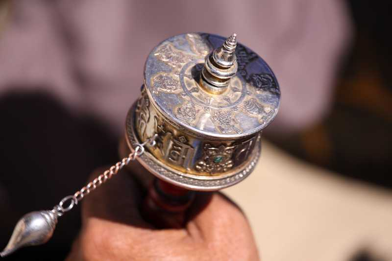 Tibetan prayer wheel