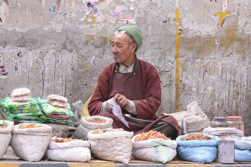 Street vendor in Leh