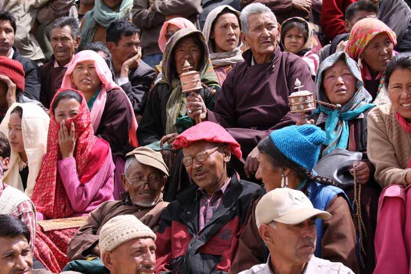 Locals at the Ladakh Festival in Leh