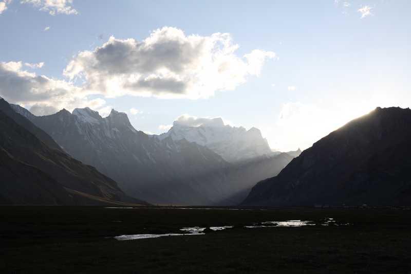 Sunset in the Zanskar Valley