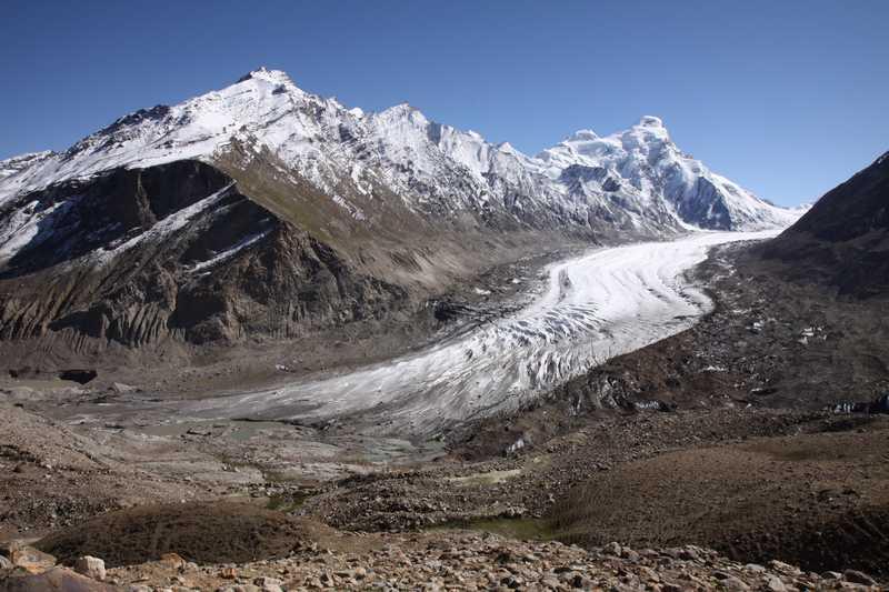 An amazing valley glacier in The Zanskar Valley