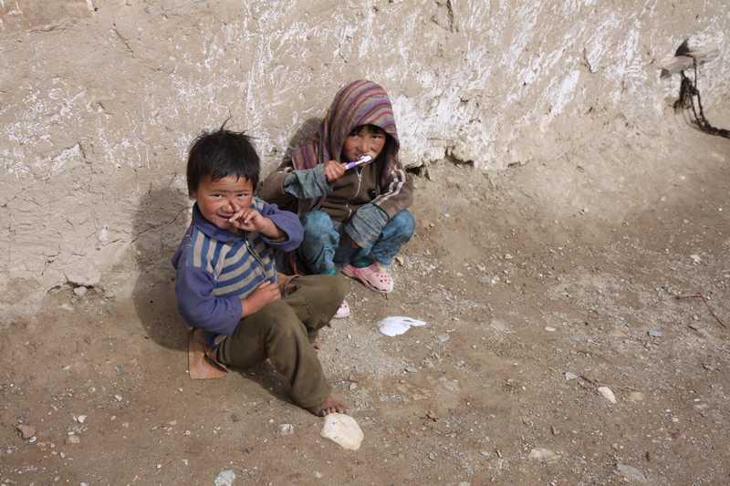 Local children in the village.