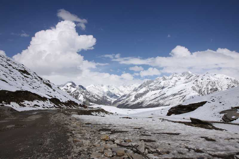 The top of Rhotang Pass at 3900 m before descending to Manali.