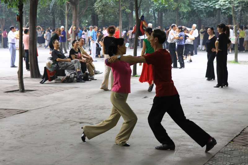 The peoples park in Chengdu.