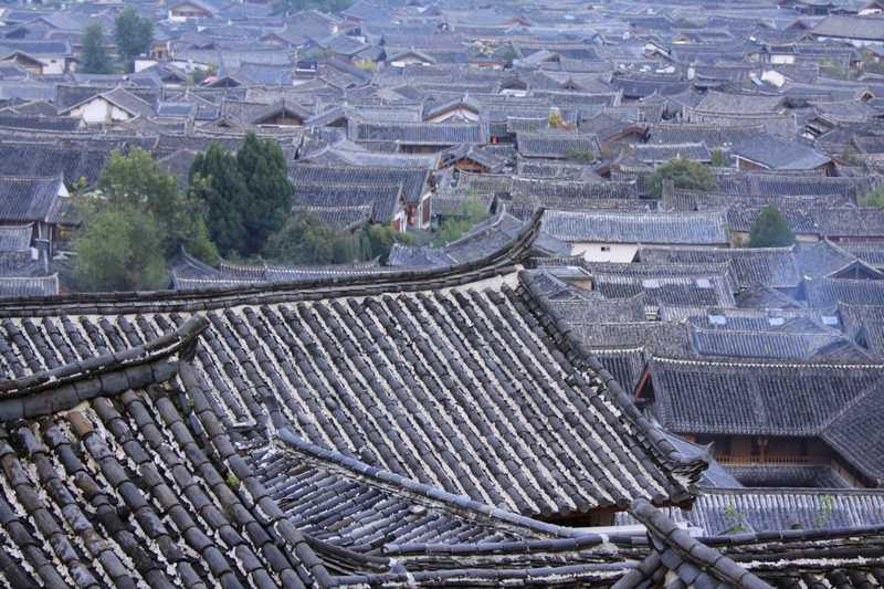 The roof tops of Lijang.