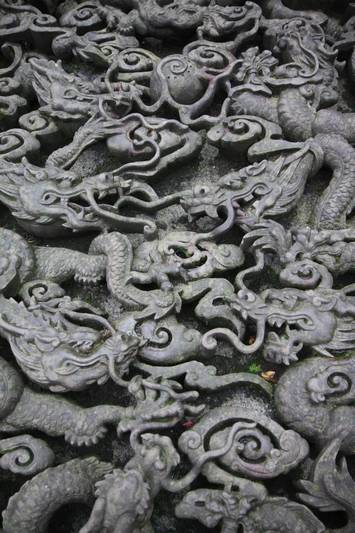 Stone carvings at the same temple.