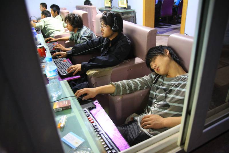 The results of internet addiction as seen all over China.