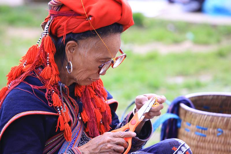 Craftswoman in Sapa