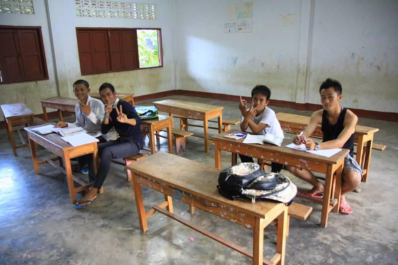 My students for a day at a school near Vang Vien