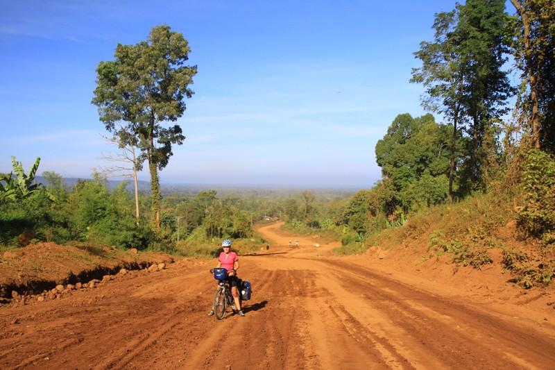 Dusty roads on the Bolevan Platau, Laos