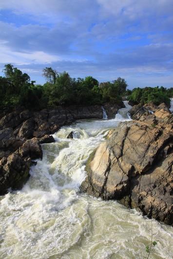 Impressive waterfalls at 4000 island, Laos.
