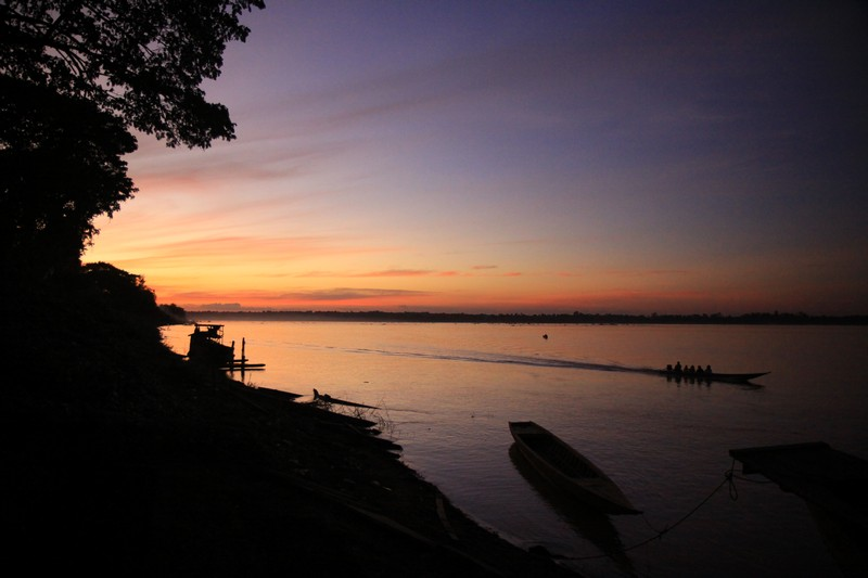 Sunset in Stung Treng, Cambodia.