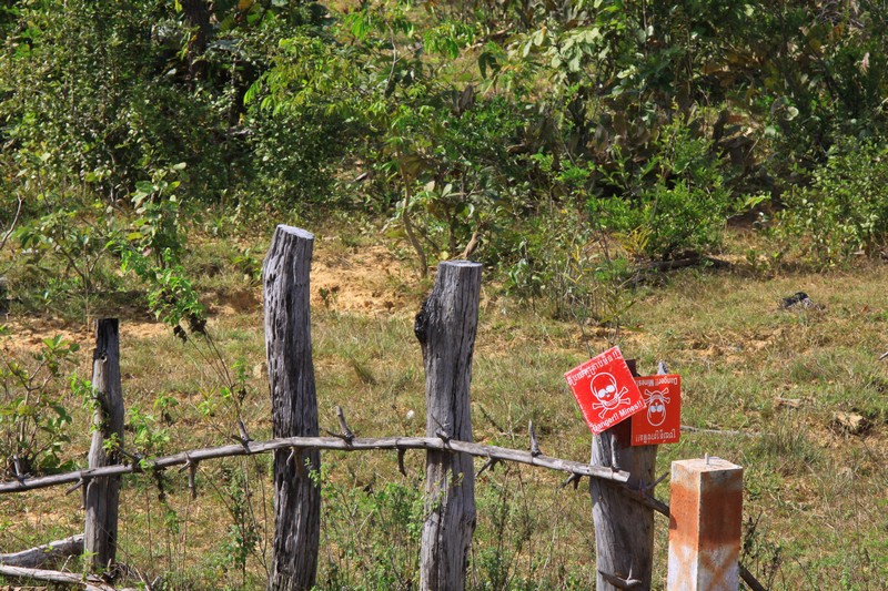 The landmines live on in many areas in the north of Cambodia.