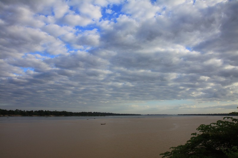 The confluence of two rivers in Stung Treng.