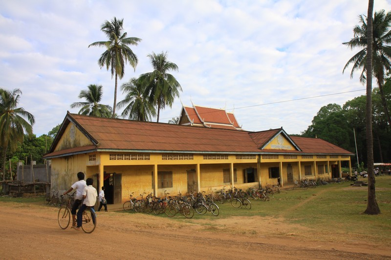 A local school in Cambodia.
