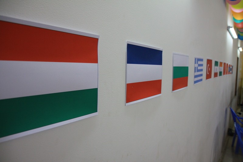 The flags of each of the countries I passed through in the last 7 months.