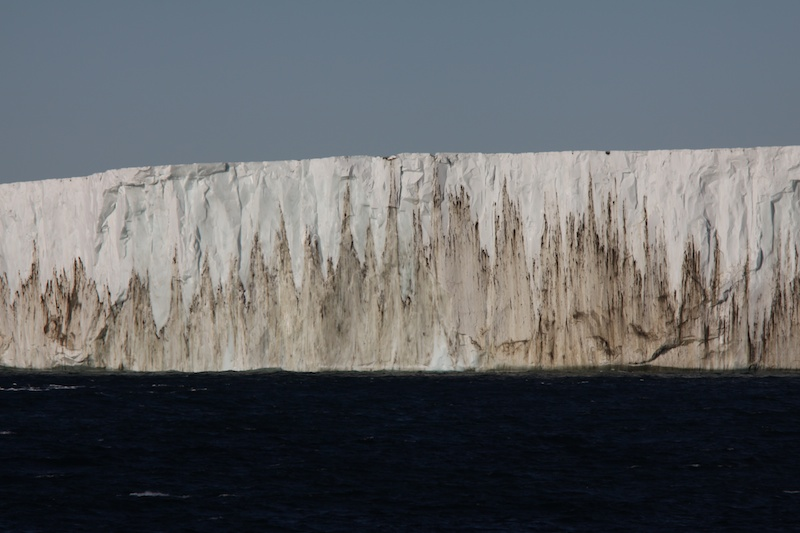 A 30 or 40 m high iceberg near Mt. Melbourne.