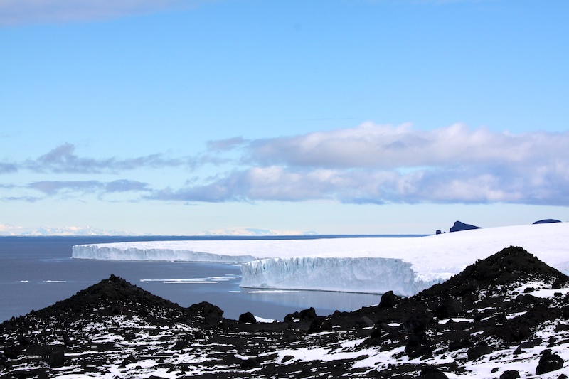 Looking out over McMurdo from the lower slopes of Mt. Erebus.