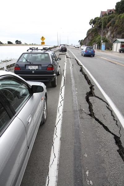 Cracks in the road to sumner.