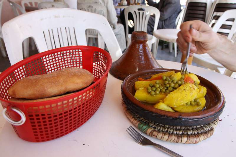 The Moroccan Tajine, it's everywhere! 2 meals a day for the Morrocans, (almost) always delicious!