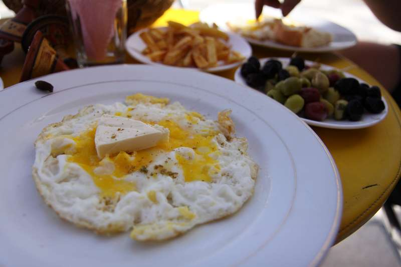 A so called cheese omelette, after compalining about high prices, a menu was produced with everything half the price...hmmm