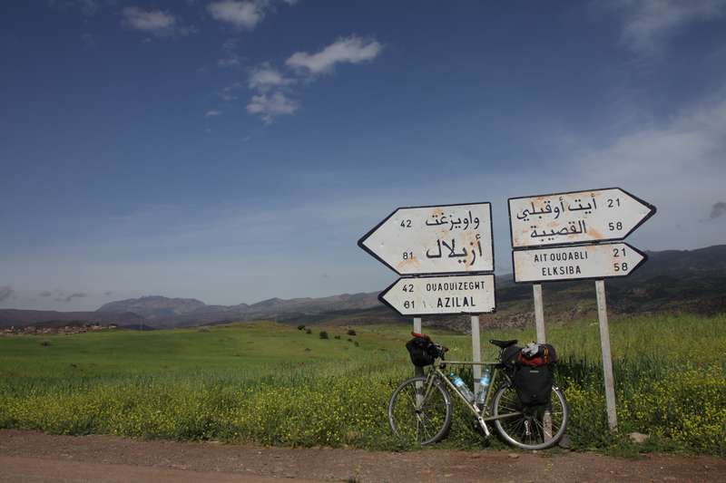 Descending from the High Atlas mountains.