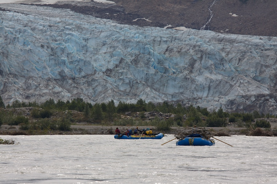 The Walker Glacier, no longer good for walking as it quickly melts, the name remains.