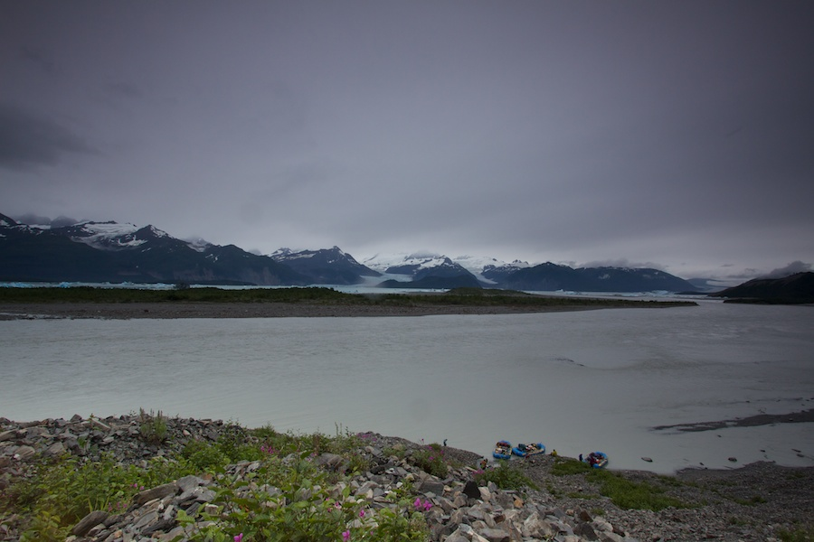 First view of Alsek Lake from.