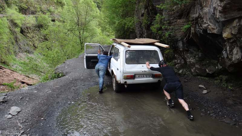 You can't be in the former USSR without pushing a Lada at some point.