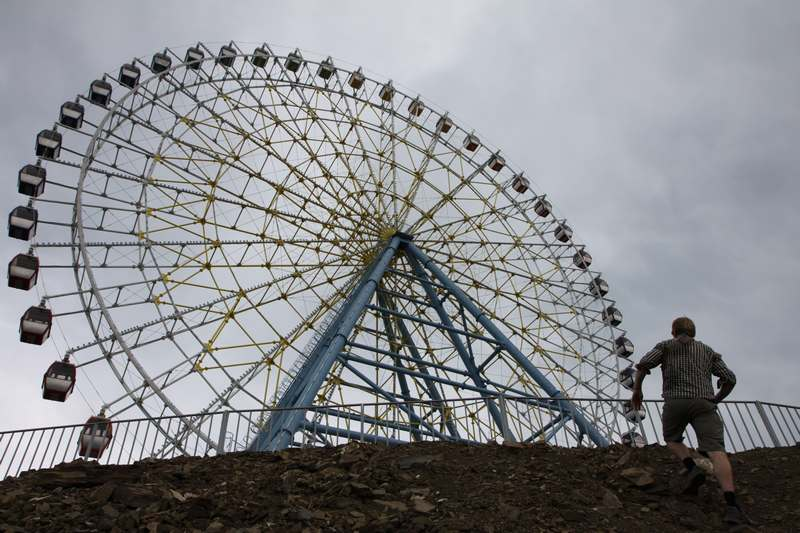 A new theme park ready for the summer season on the hill above Tbilisi