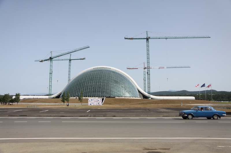 The newly built parliament building in Kutaisi.