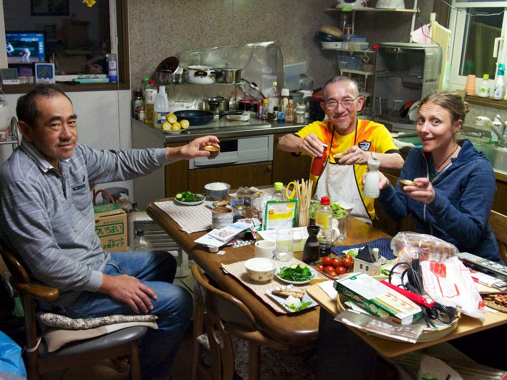 Incredible home cooked meals with Chiba-san and his brother. Awesome hospitality.