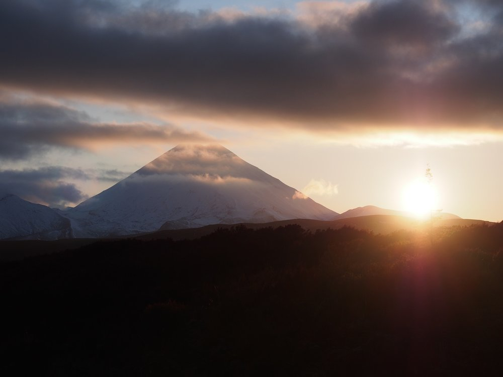 Mount Ngauruhoe at sunrise