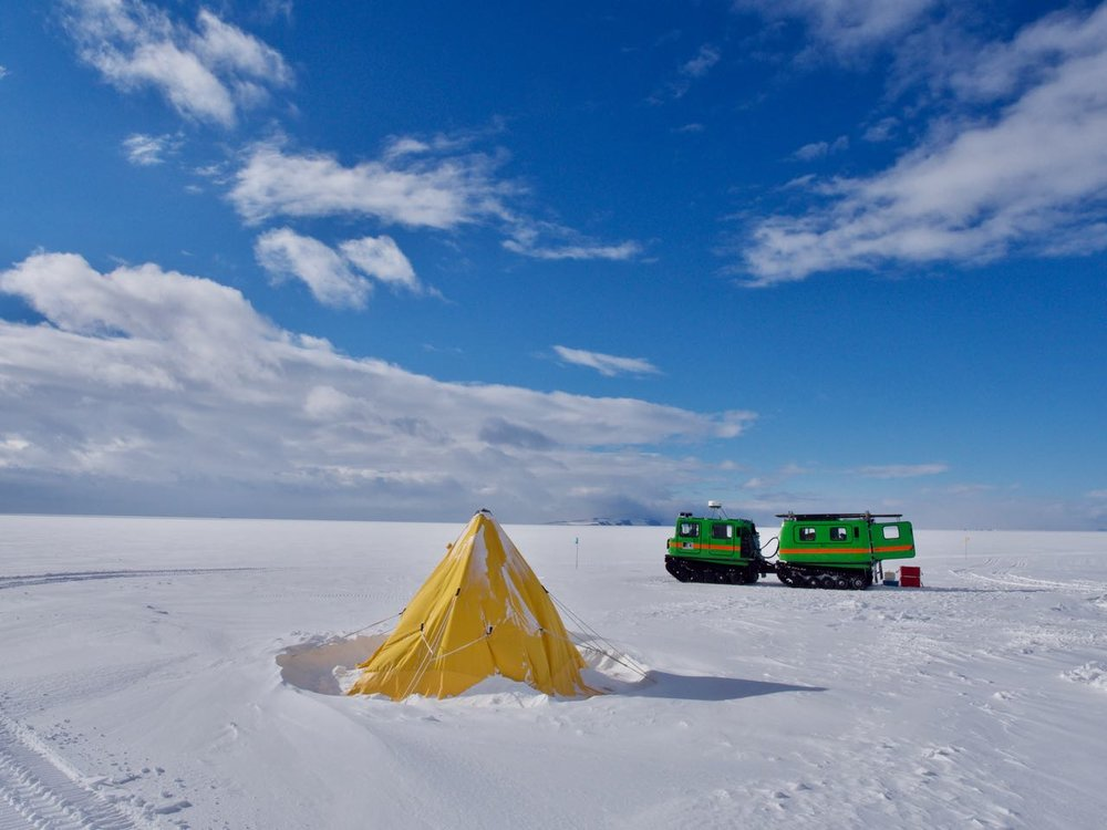 Campsite on 30m of ice