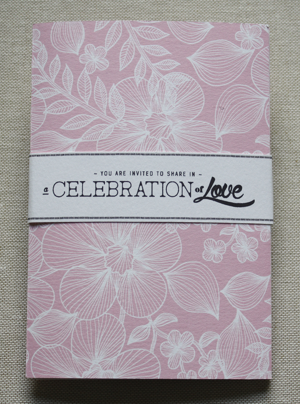 Beautifully designed watercolour paper wrapped booklets